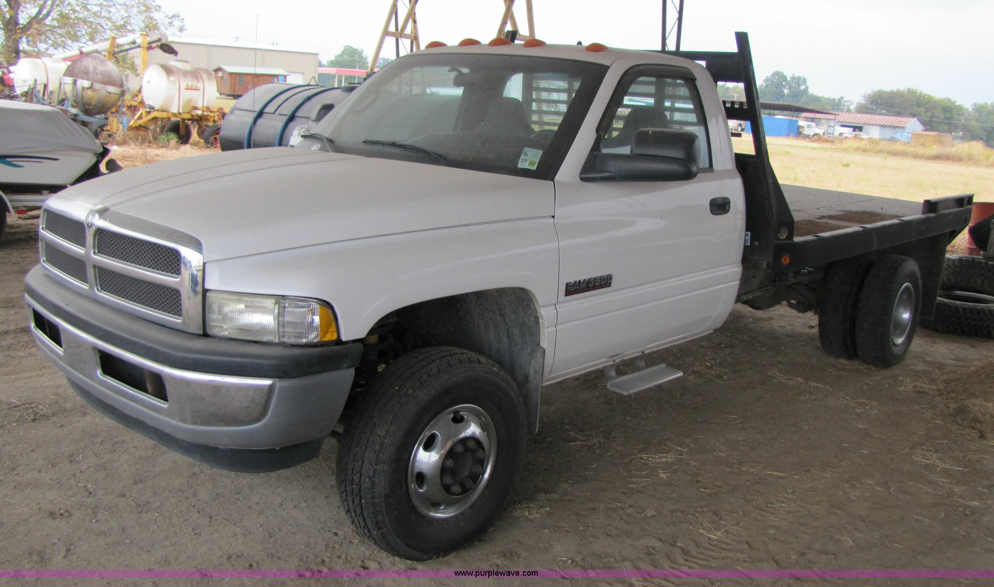 2001 Dodge Ram 3500 Flatbed Truck In Tallulah La Item 3469 Sold Purple Wave
