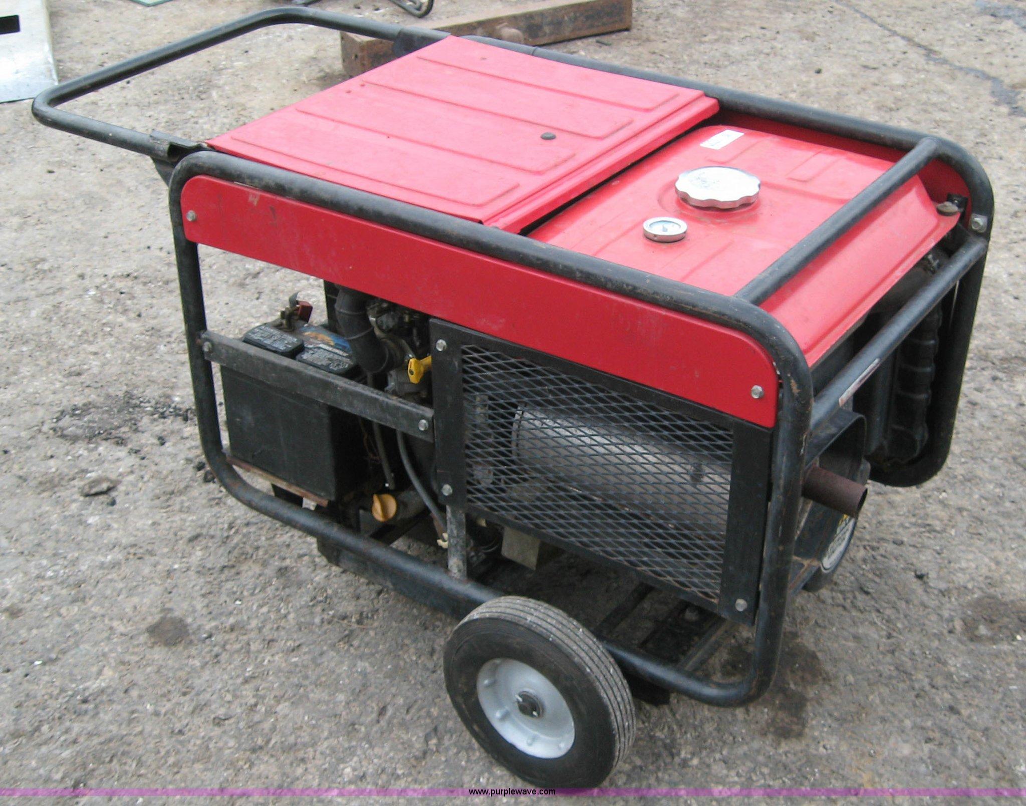 Honda ES6500 gas powered generator Item 5293