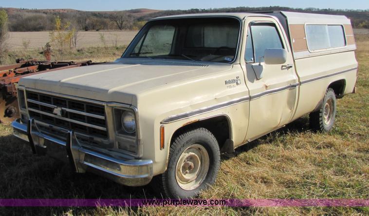 1979 chevrolet scottsdale 1 2 ton pickup truck item 5199. Black Bedroom Furniture Sets. Home Design Ideas