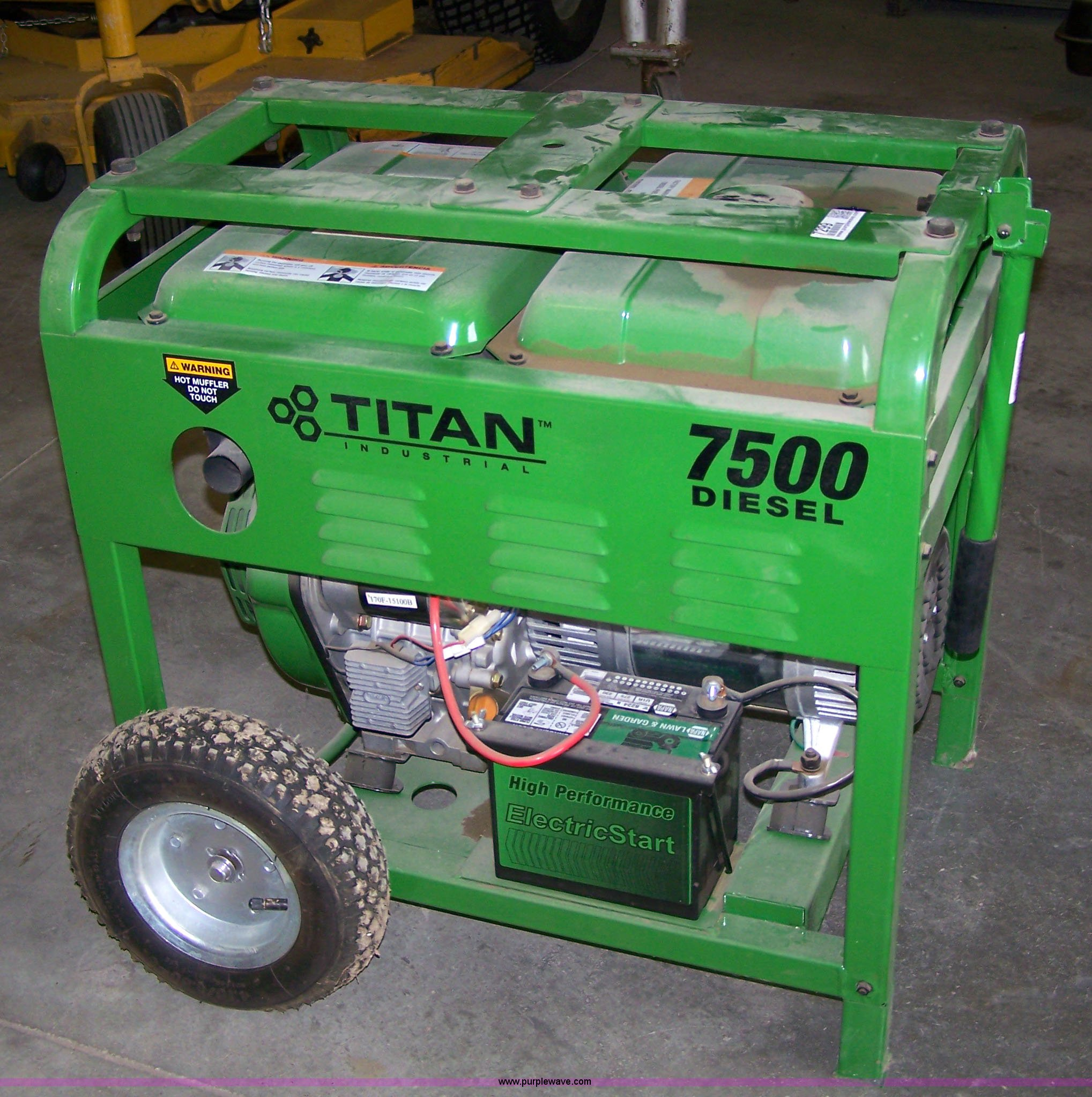 Titan 7500 Diesel Generator Item 7299 11 30 2010