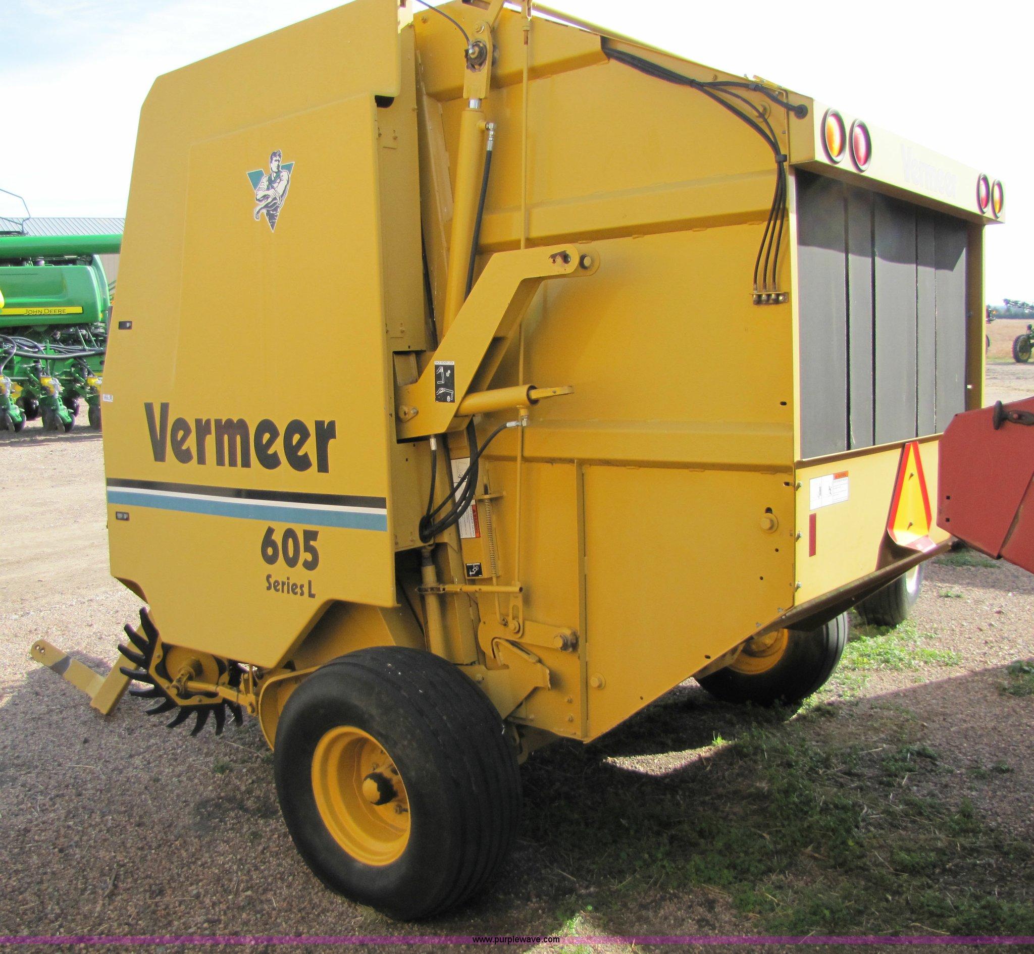 vermeer 605 series l round baler item 5215 sold decembe rh purplewave com
