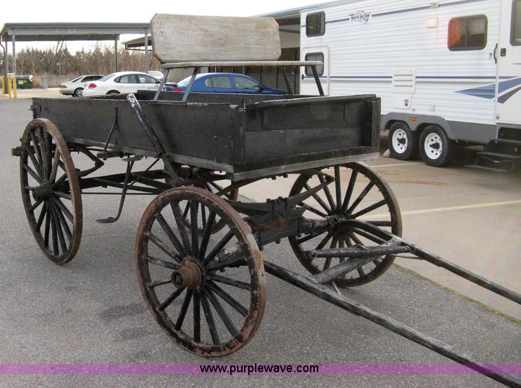Horse Drawn Spring Wagon Item 8072 Sold December 15