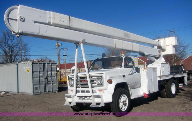 1988 gmc sierra c70 boom bucket truck item 6823 sold ja rh purplewave com 65 Hi-Ranger Boom Parts Hi- Ranger Bucket Truck Manuals