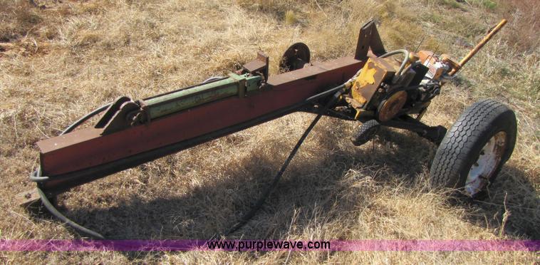 Homemade log splitter   Item 3658   SOLD! February 2 Oklahom