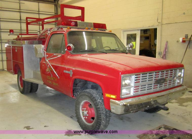 1984 Chevrolet K30 one ton firetruck | Item 2960 | SOLD! Feb