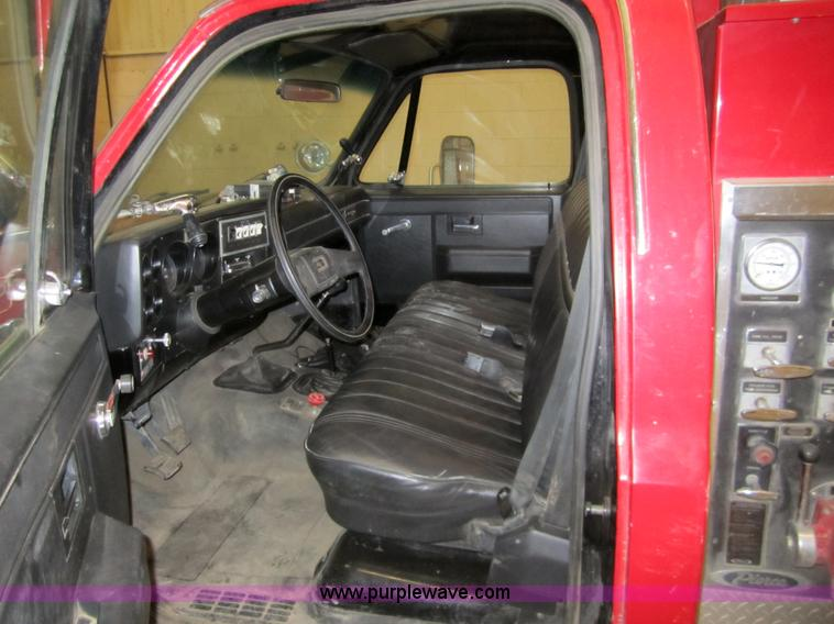 1984 Chevrolet K30 one ton firetruck | Item 2960 | SOLD! Feb
