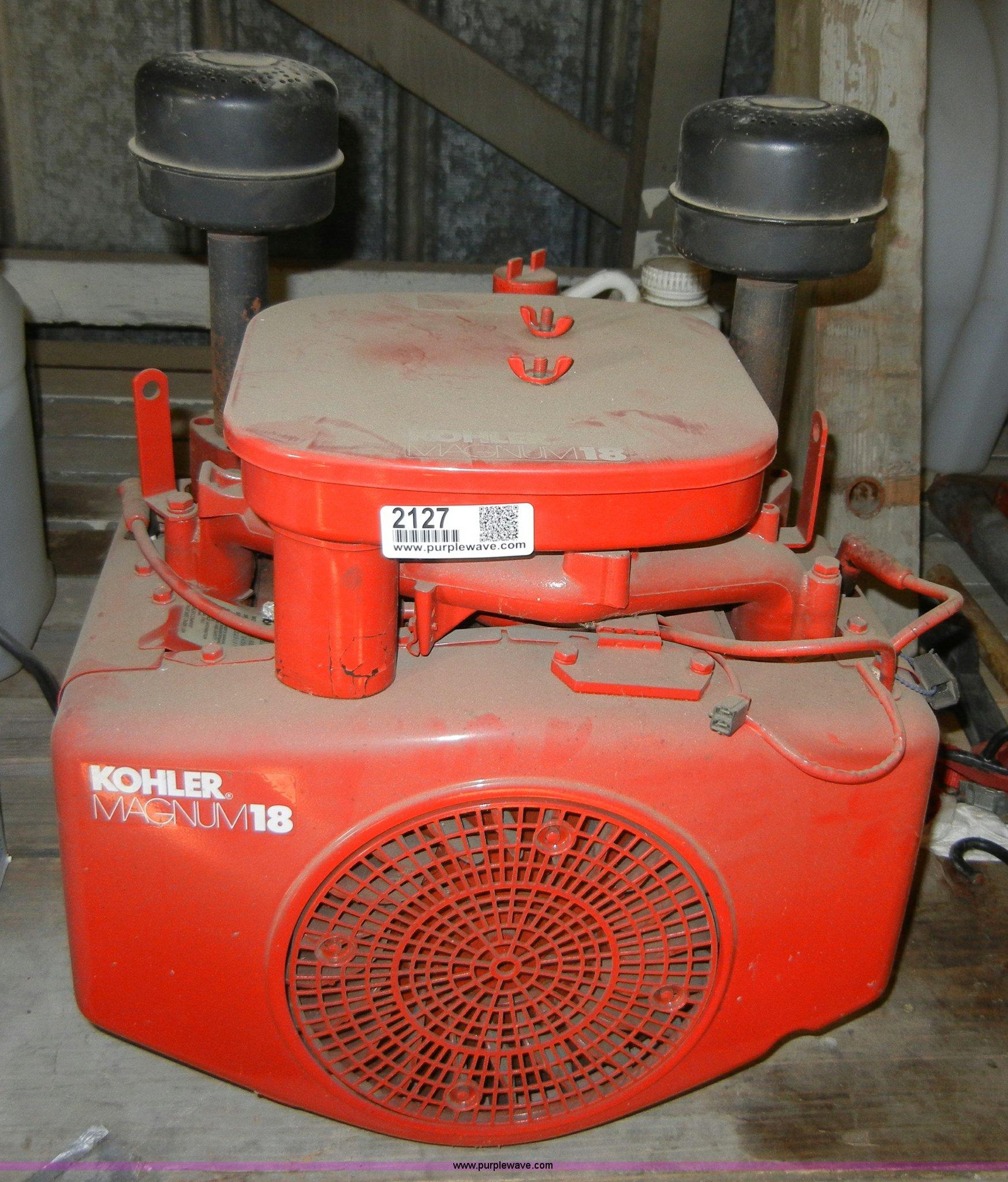 kohler magnum 18 hp engine item 2127 sold february 8. Black Bedroom Furniture Sets. Home Design Ideas