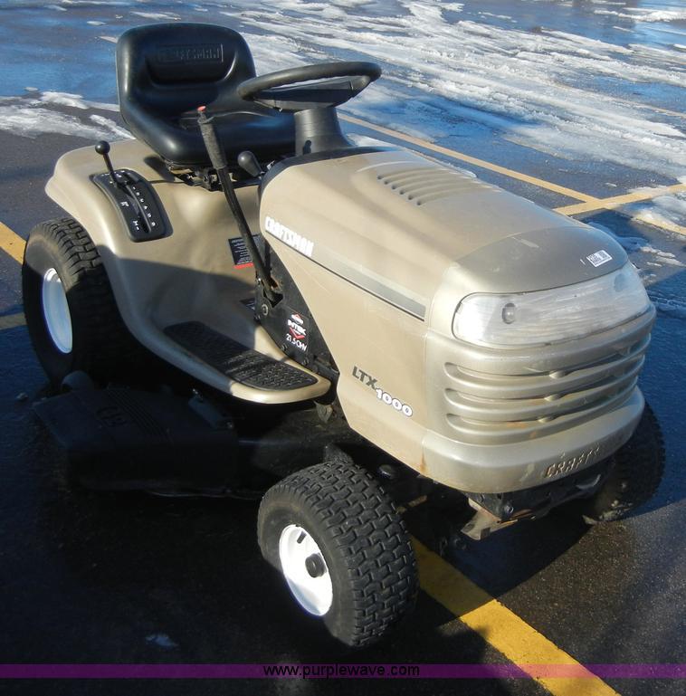 Craftsman 1000 Lawn Tractor : Craftsman ltx lawn tractor item sold
