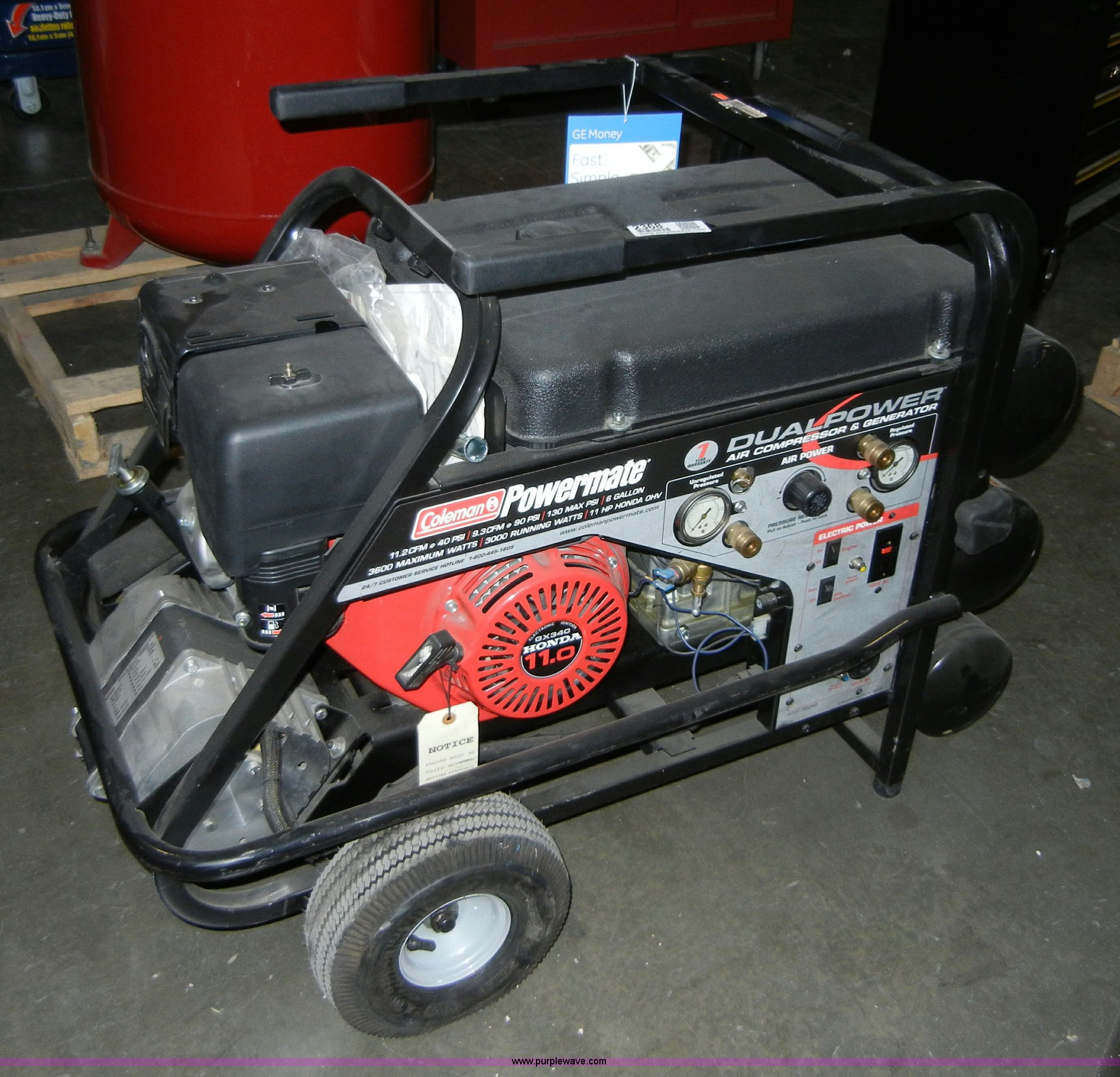 Coleman Powermate Dual Power Air Compressor And Generator For Sale In Kansas
