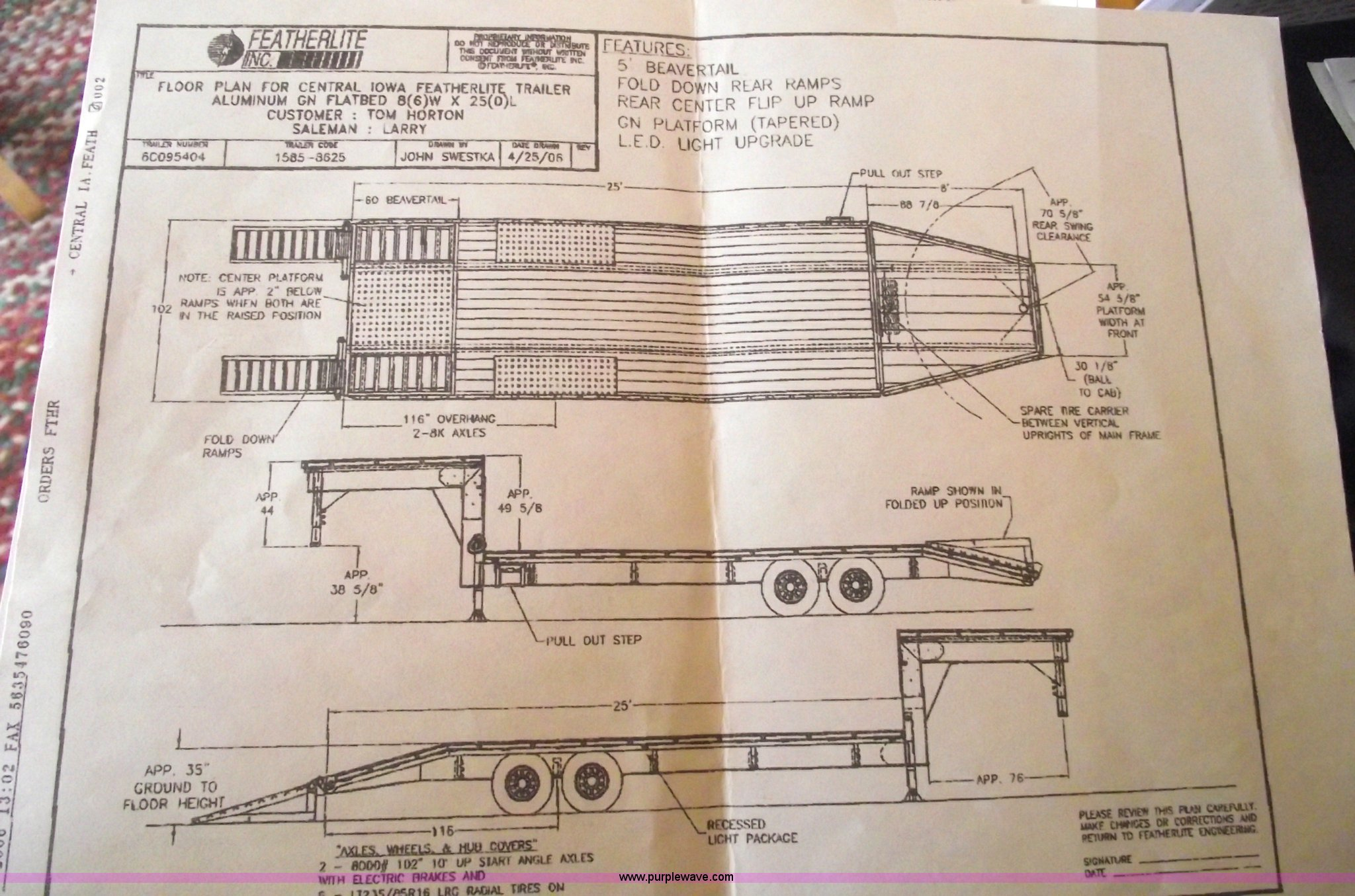 2006 Featherlite 1585 All Aluminum Goose Neck Trailer Item Wiring Diagram For Gooseneck Full Size In New Window
