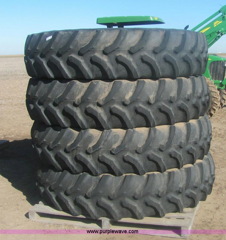 Used Tractor Tires For Sale >> 4 Used Goodyear Ultra Torque Plus Rear Tractor Tires Ite
