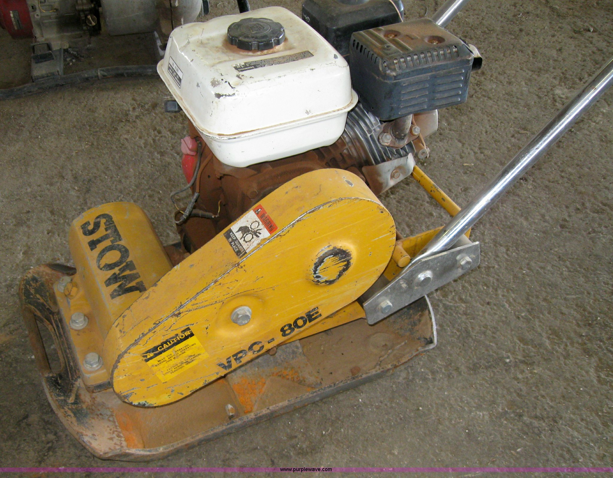 Stow VPC-80E plate compactor | Item 4854 | SOLD! March 10 LM