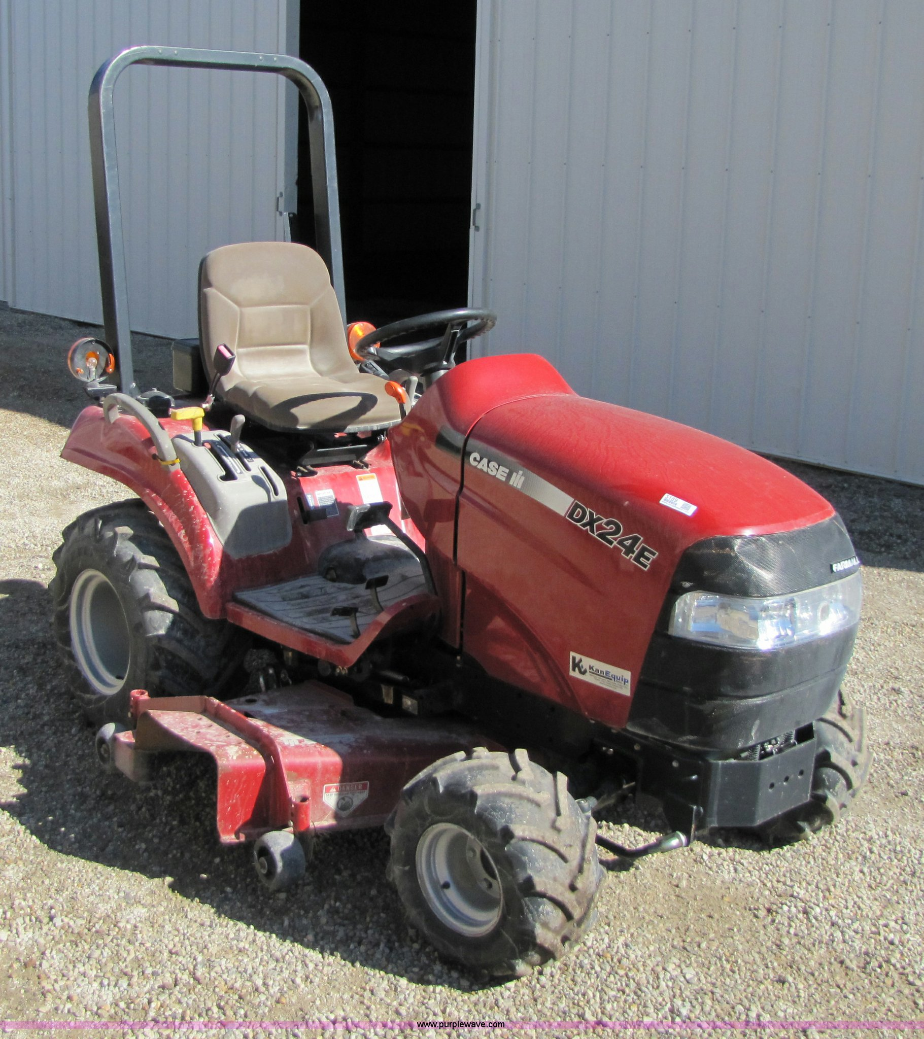Ih Garden Tractors : Case ih dx garden tractor with mower deck item