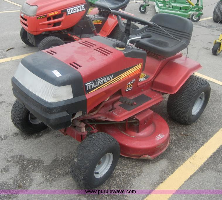 Murray Riding Lawn Mower Parts : Murray riding lawn mower item sold wednesday