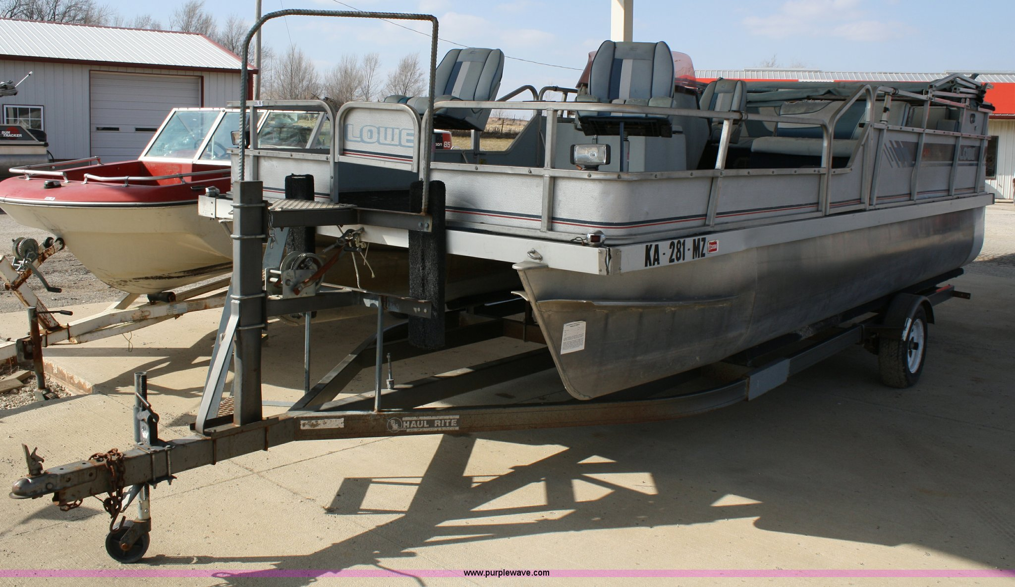 78 1989 Lowe Pontoon 24 With 2011 Trailer 70 Tahiti Wiring Diagram 4940 Image For Item 200 Boat
