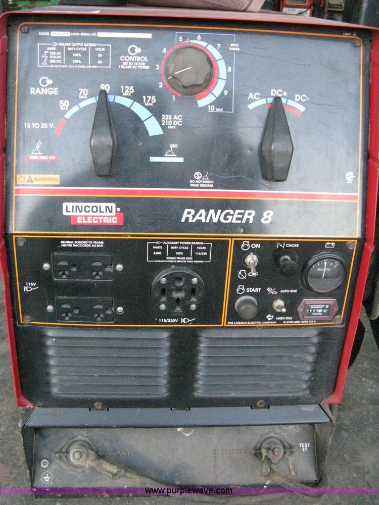 Lincoln Ranger 8 Welder With Onan Performer 16 Gas Engine