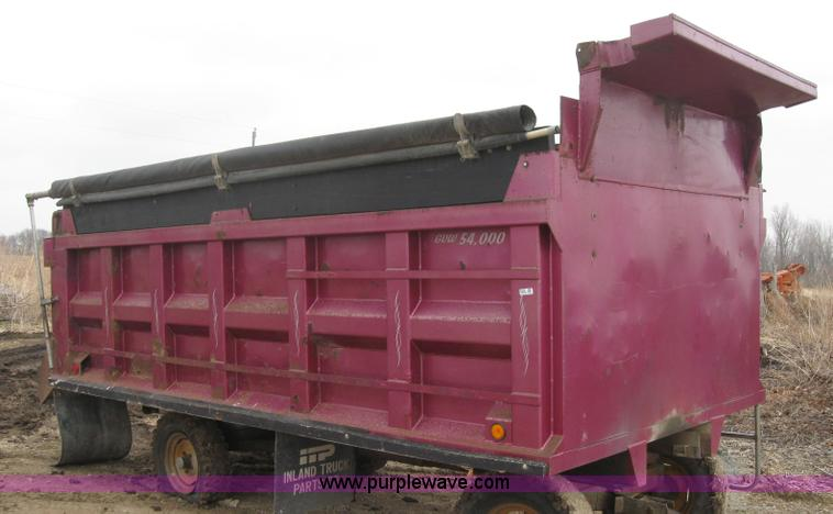 ox-box dump truck bed | item 8528 | sold! thursday march 31