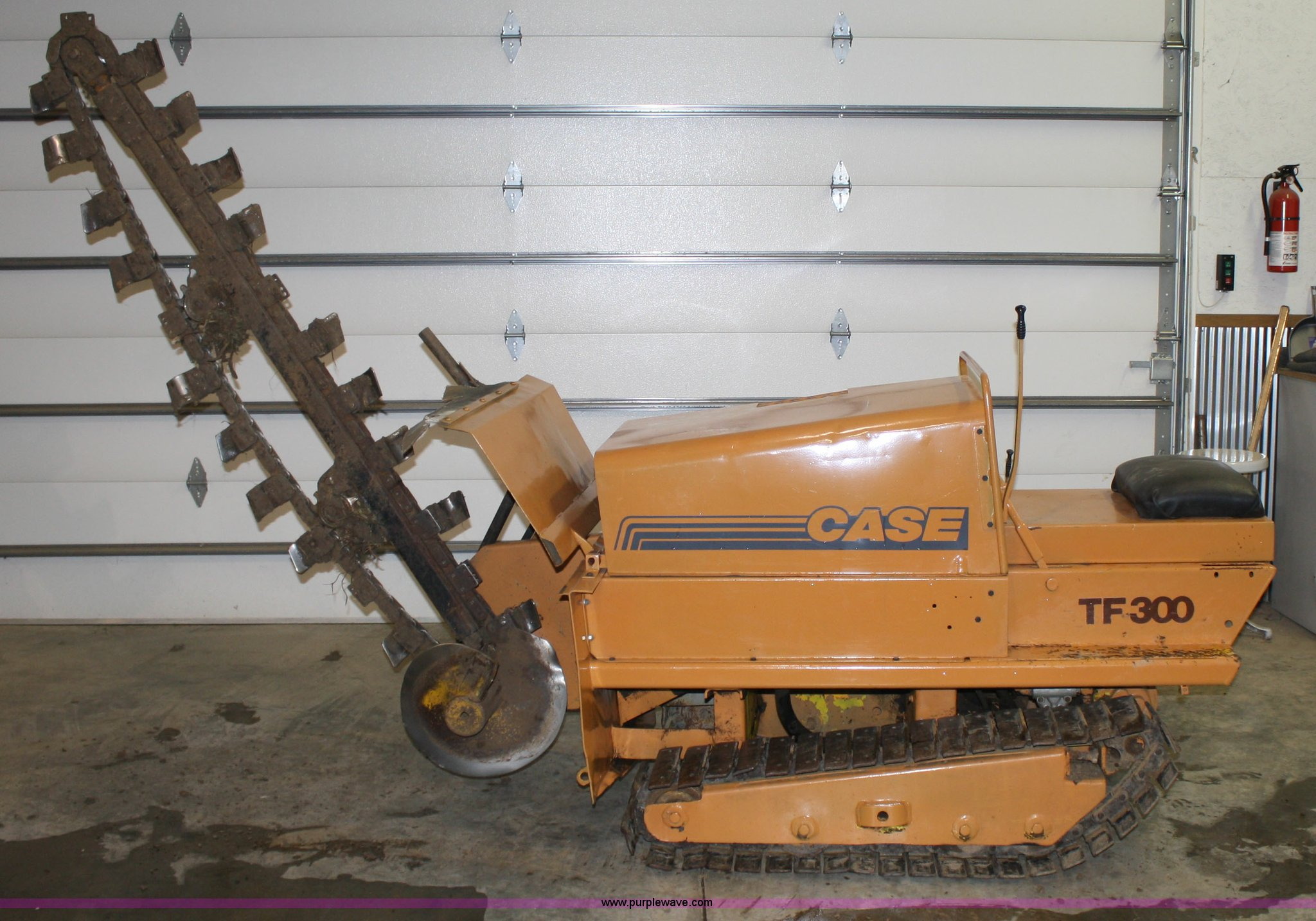 case tf300 trencher item 5047 sold thursday march 31 co rh purplewave com Trencher Problems Tuff Trencher