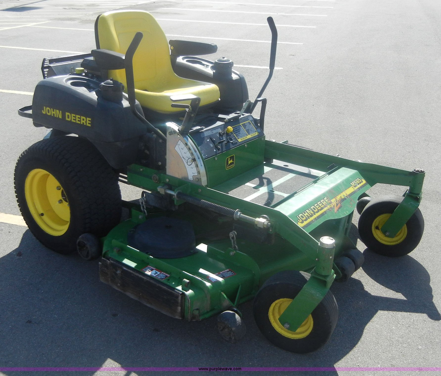 how to start a john deere zero turn mower