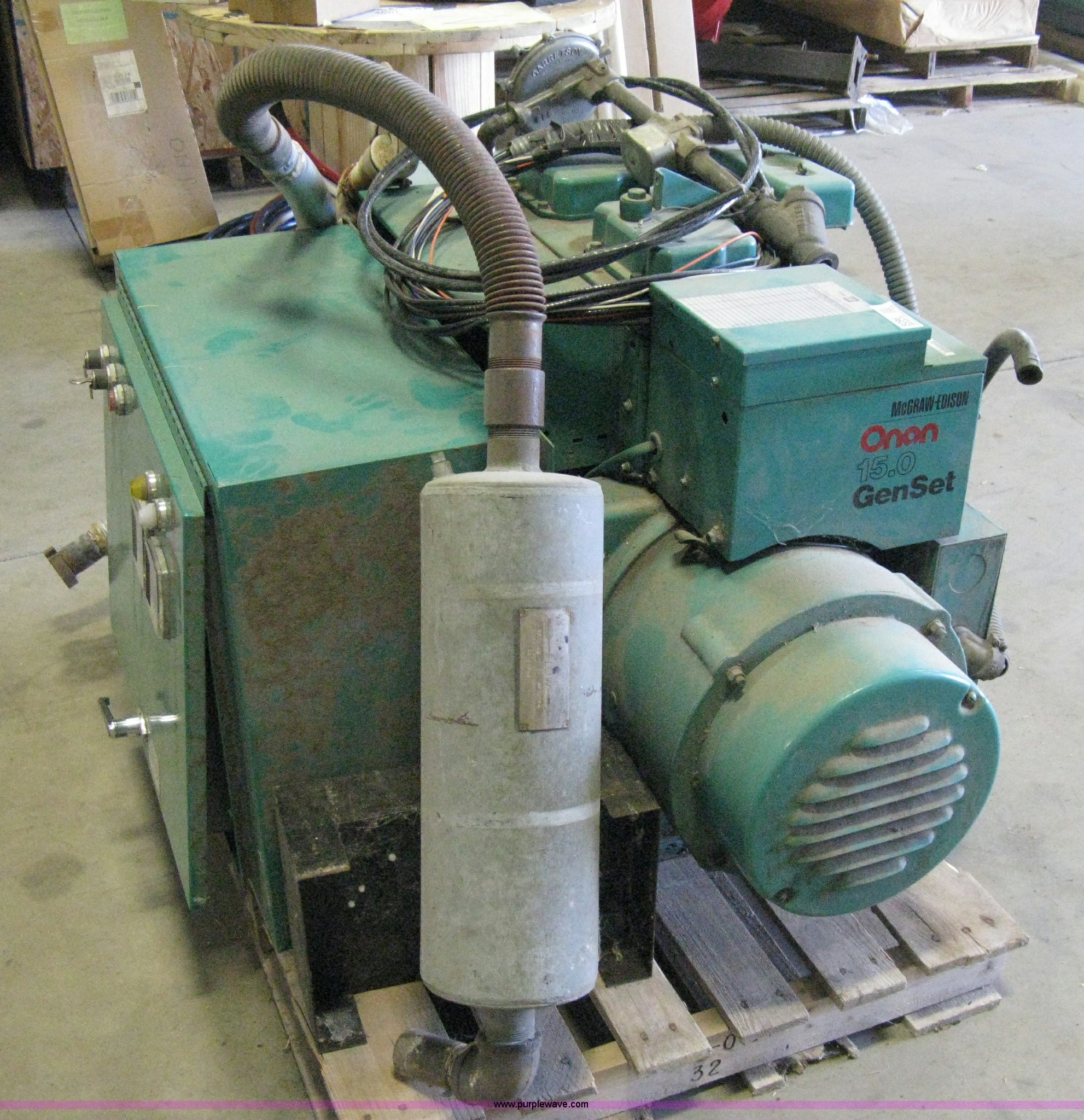an 15 0 GenSet mercial generator Item 8096