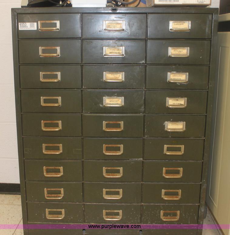 27 drawer metal cabinet | Item 6553 | SOLD! April 12 Governm...