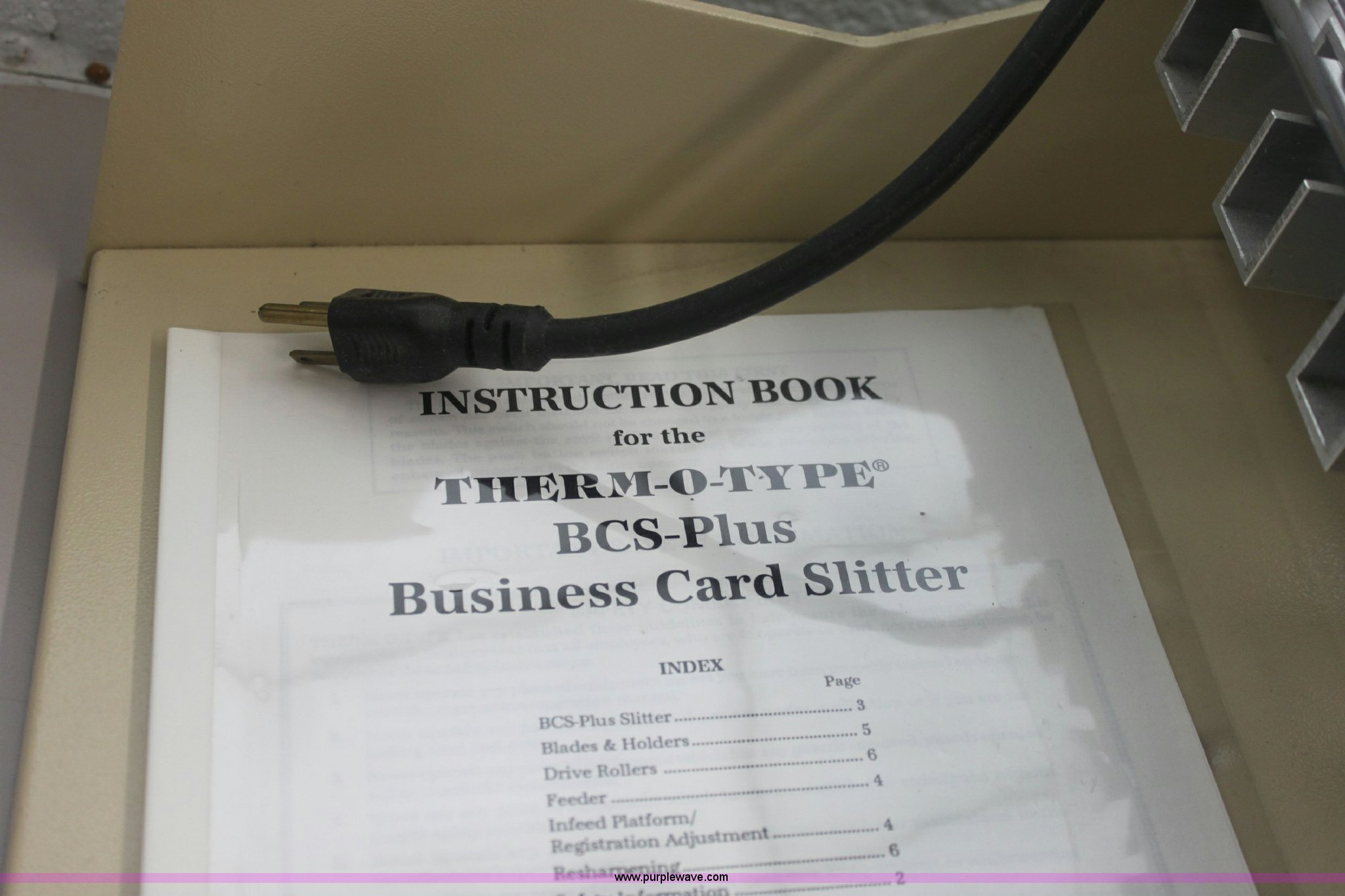 Thermotype bcs plus business card slitter item 6104 sold business card slitter full size in new window magicingreecefo Image collections