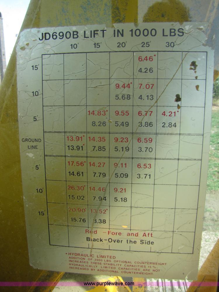 1974 John Deere 690B excavator | Item 8668 | SOLD! April 14