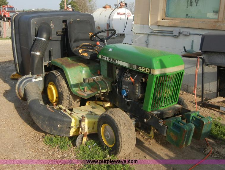 Superior 8723 Image For Item 8723 John Deere 420 Lawn Mower With Bagger