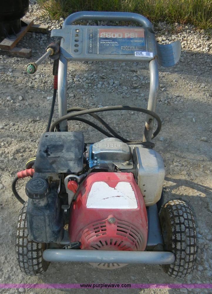 Excell XR2600 power washer | Item 2036 | SOLD! May 19 Bobcat...