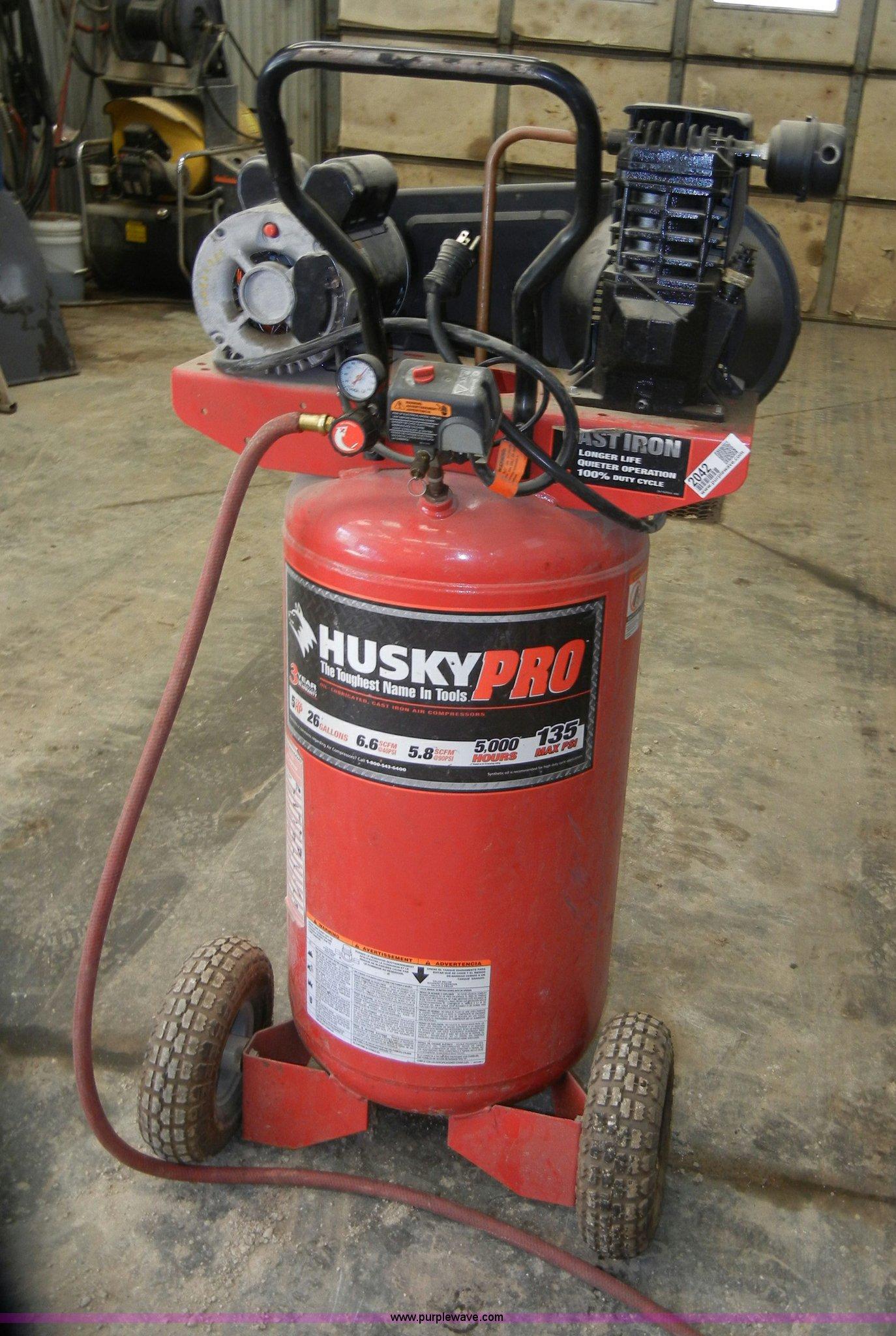 Husky pro 26 gallon air compressor item 2042 sold may for Manhattan motors manhattan ks