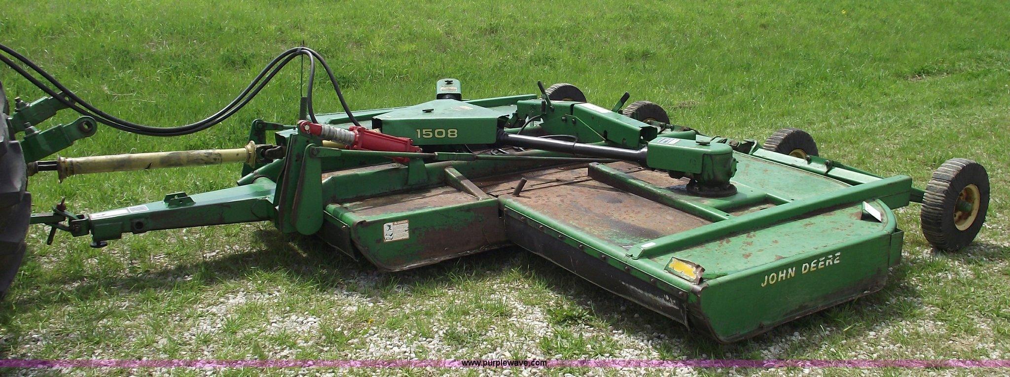 John Deere 1508 15' bat wing rotary mower | Item 5442 | SOLD