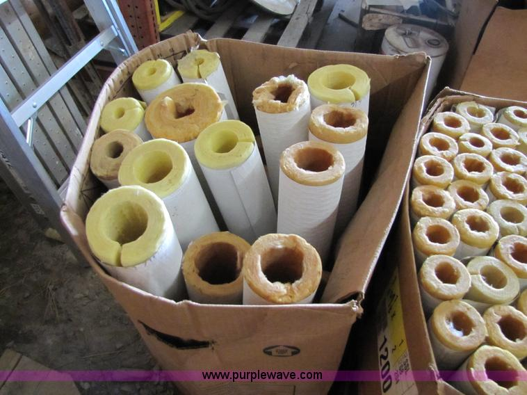 Approx  125 pieces of micro-lock fiberglass pipe insulation