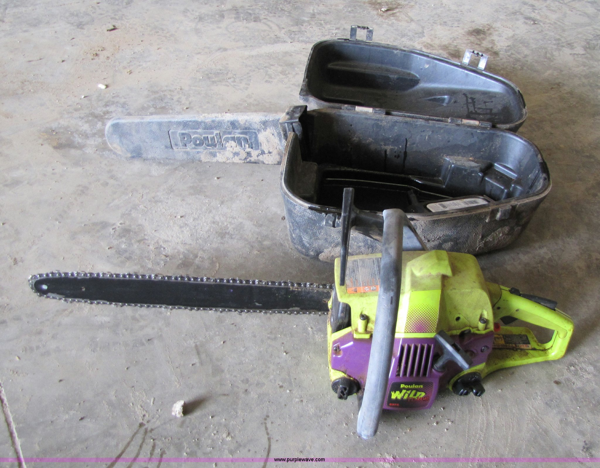 Poulan Wild Thing 2375 Chainsaw In Topeka Ks Item 8528 Sold Purple Wave