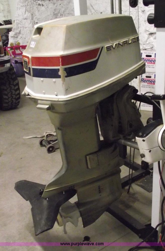 1974 Evinrude Outboard Engine With Controls Item 5530 So
