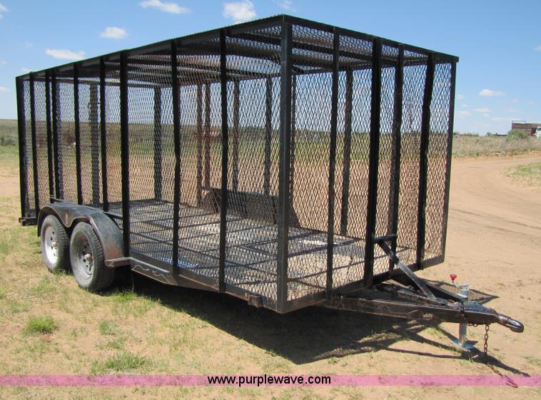 Homemade 16' enclosed mesh trailer   Item 3448   SOLD! June