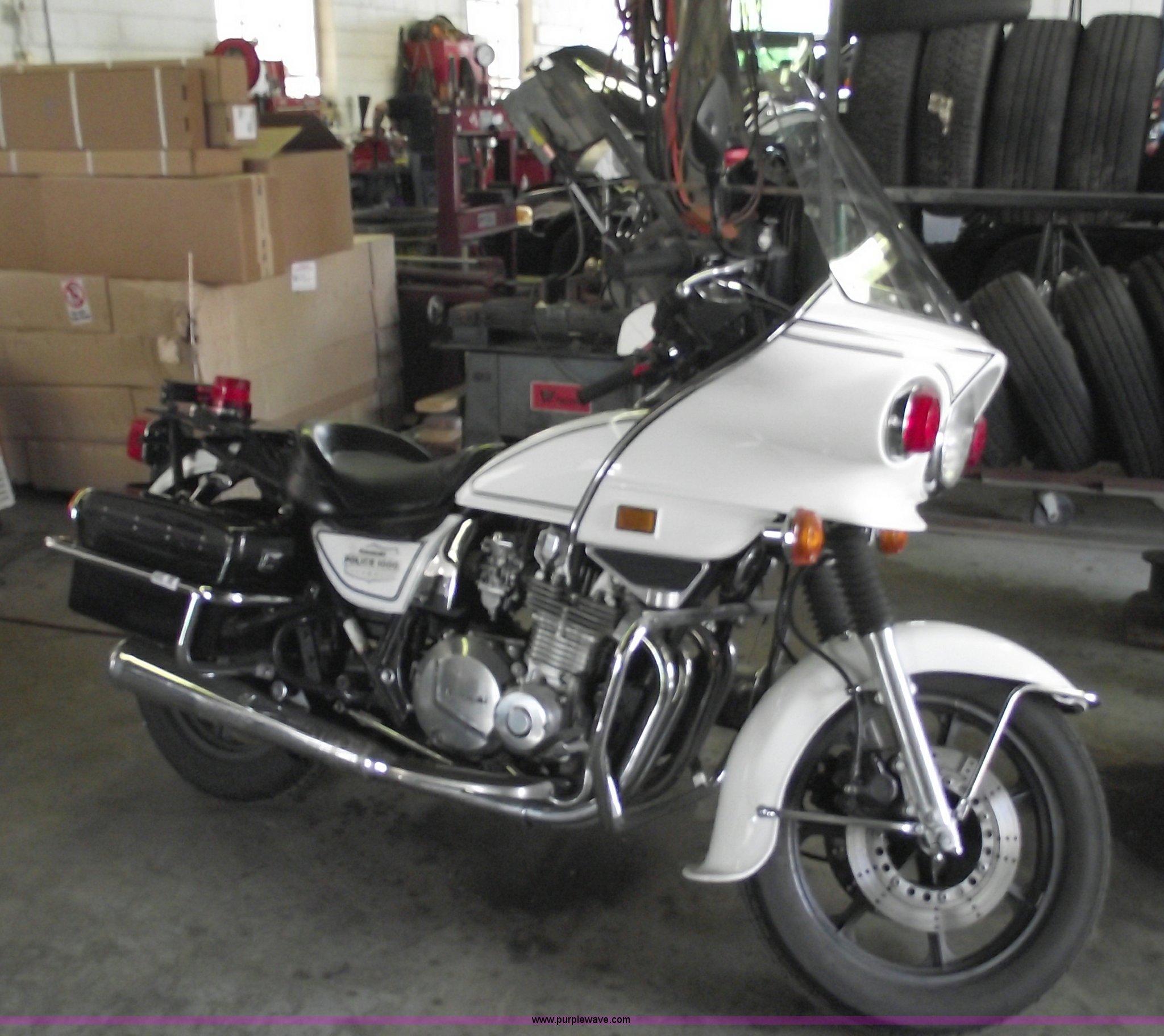 1996 Kawasaki Kz1000 Police Motorcycle Item 5538 Sold J
