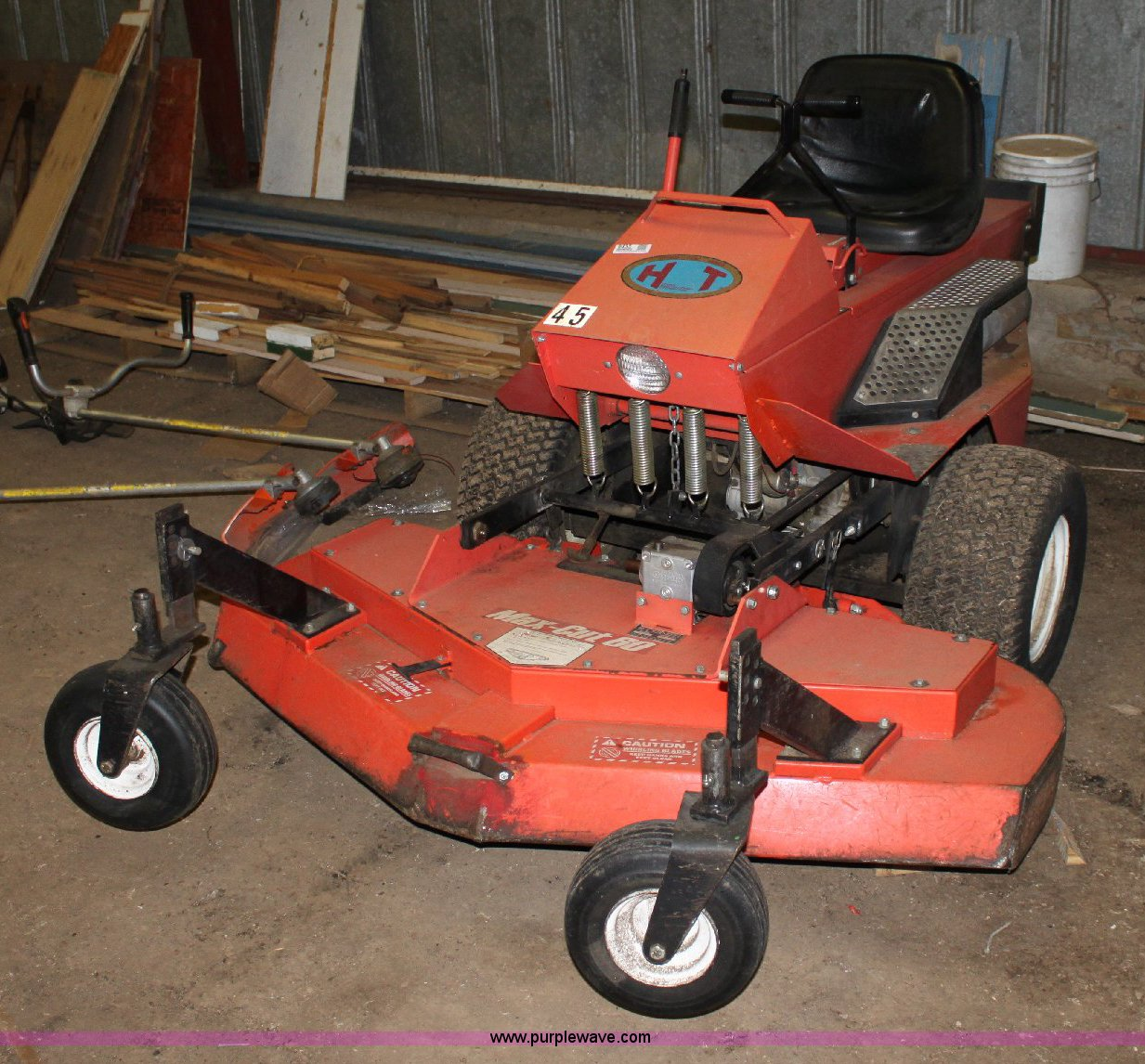 deines dd 18ht riding lawn mower item 6435 sold june 14 rh purplewave com deines mower parts deines mower manual
