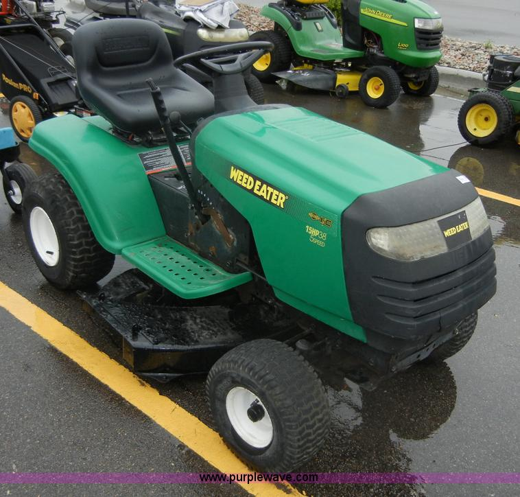 weed eater lawn tractor. 2270 image for item weed eater poulan riding lawn mower tractor l
