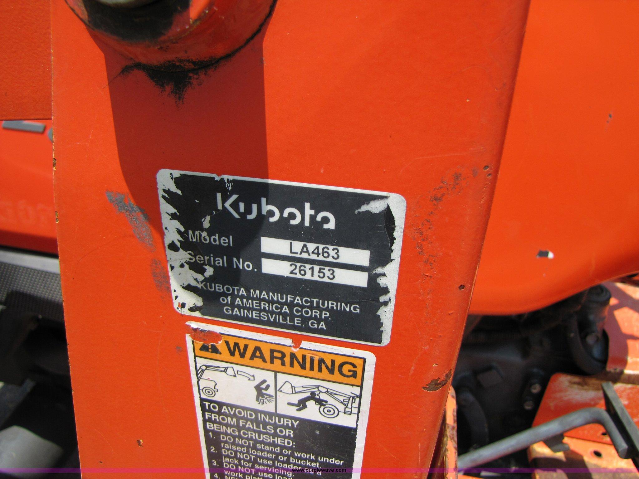Kubota L3400 MFWD tractor | Item 3451 | SOLD! June 16 Constr