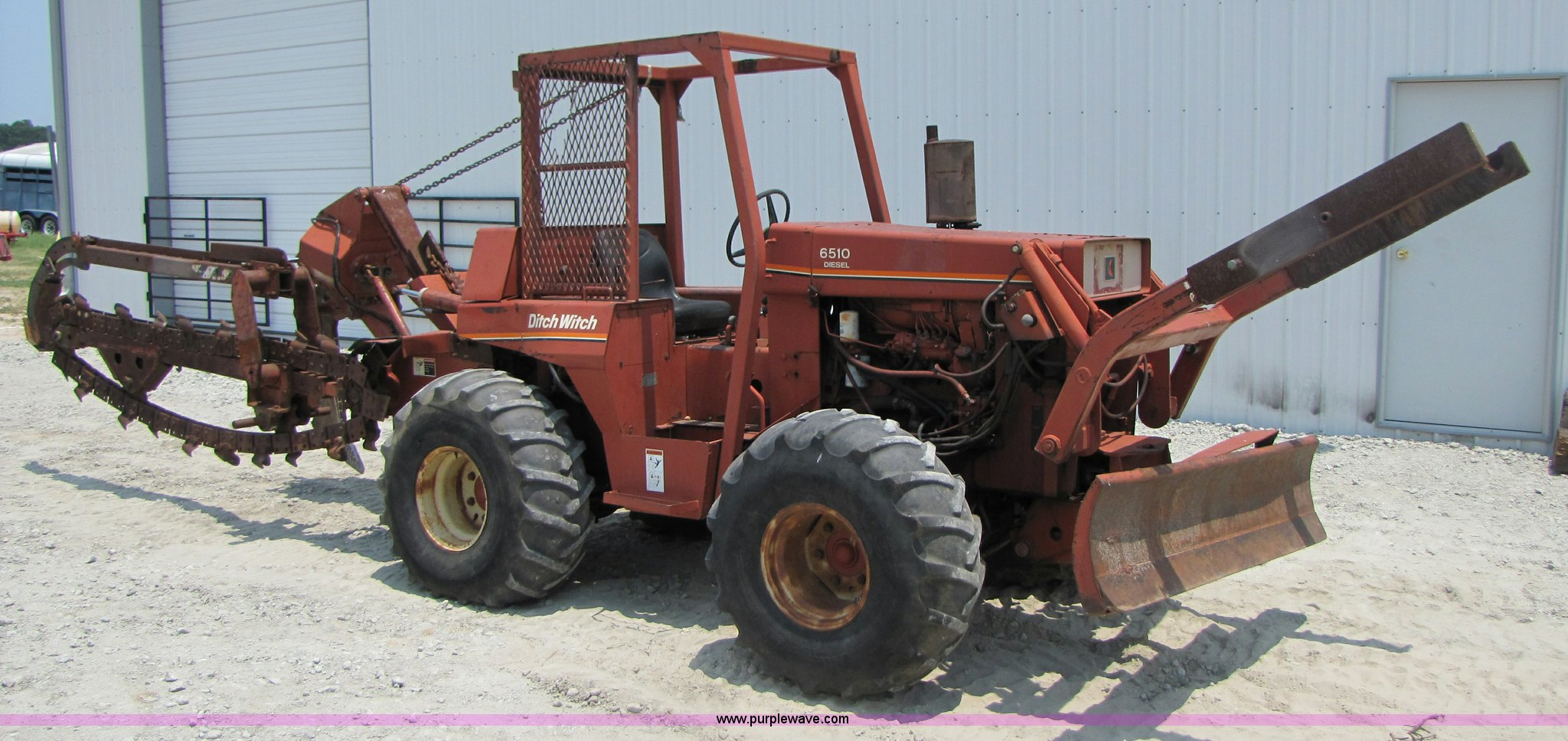 ditch witch 6510 trencher with cable plow item 3458 sold rh purplewave com Ditch Witch 6510 Specs Used Trencher Parts