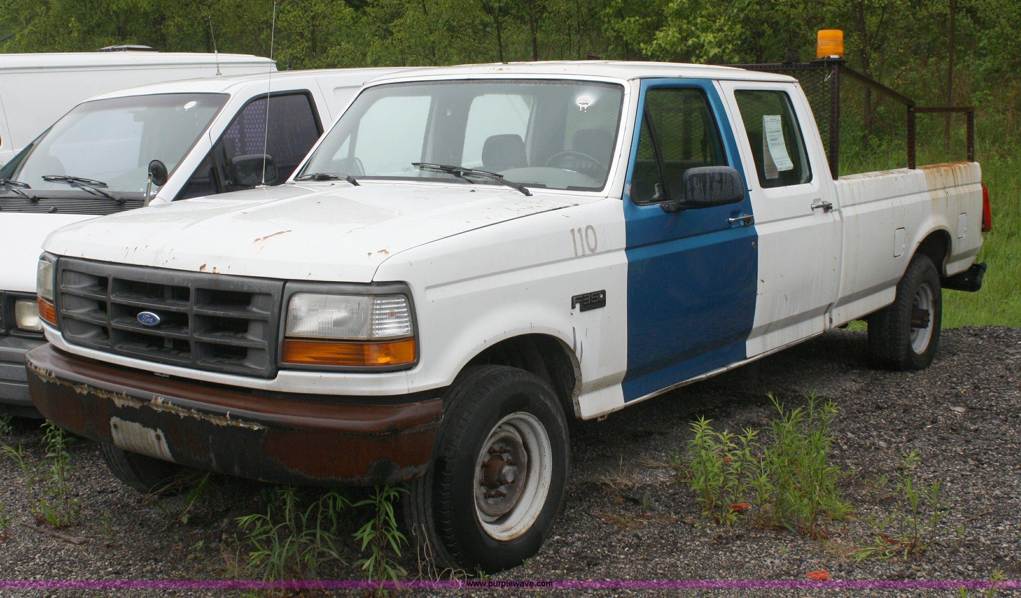 1992 ford f350 custom crew cab pickup truck item 2261. Black Bedroom Furniture Sets. Home Design Ideas