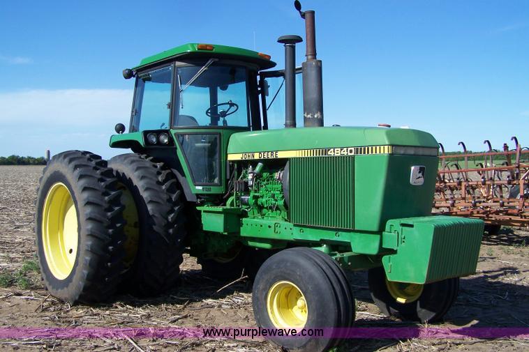 John Deere 4840 : John deere tractor item sold june