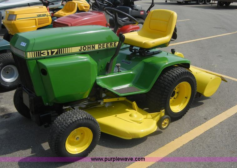 John Deere 317 lawn mower with rear tiller Item 2365 SOL