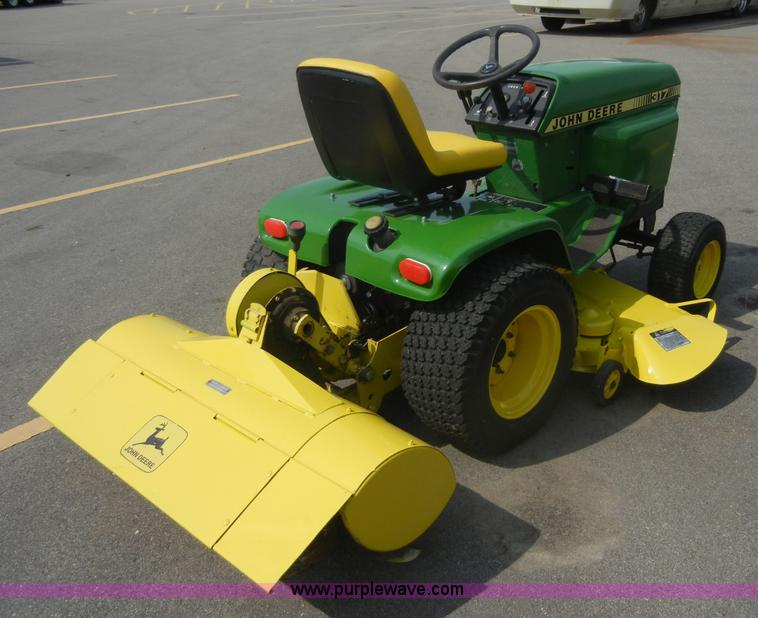 John Deere 317 lawn mower with rear tiller Item 2365 SOL