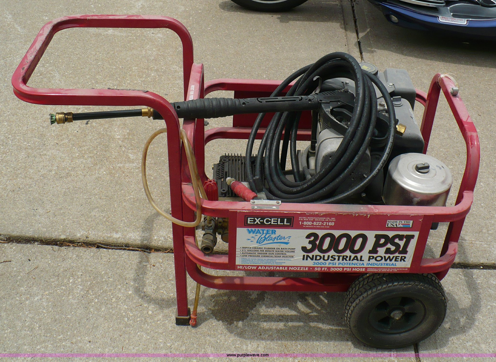 excell power washer item 1653 sold june 29 midwest inte