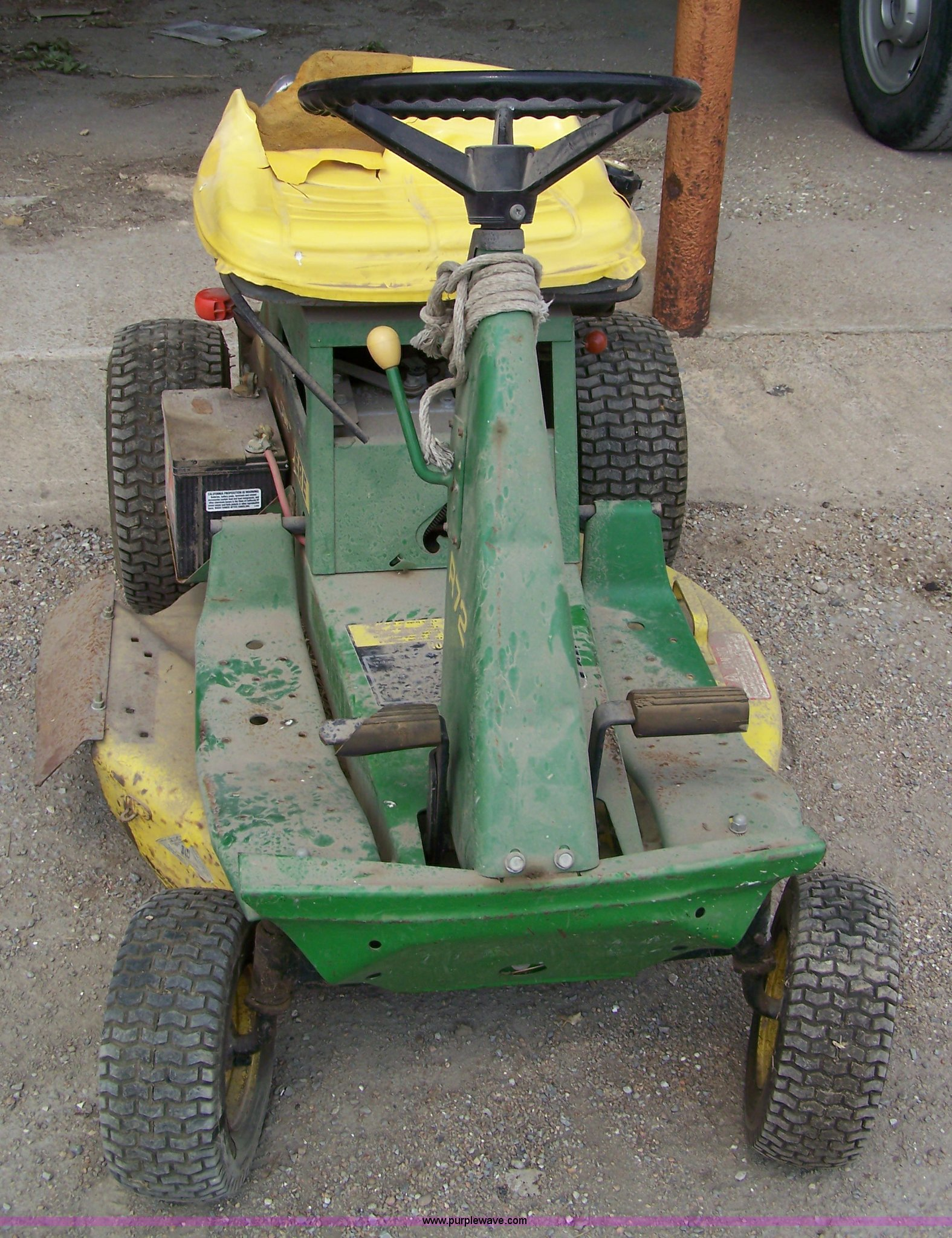 John Deere R72 Lawn Mower Item 7322 Sold July 12 Govern Model Riding Lawnmowermodelr72i Need The Assembly Diagram Full Size In New Window