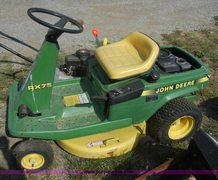 John Deere RX75 Riding Lawn Mower / Tractor For Sale