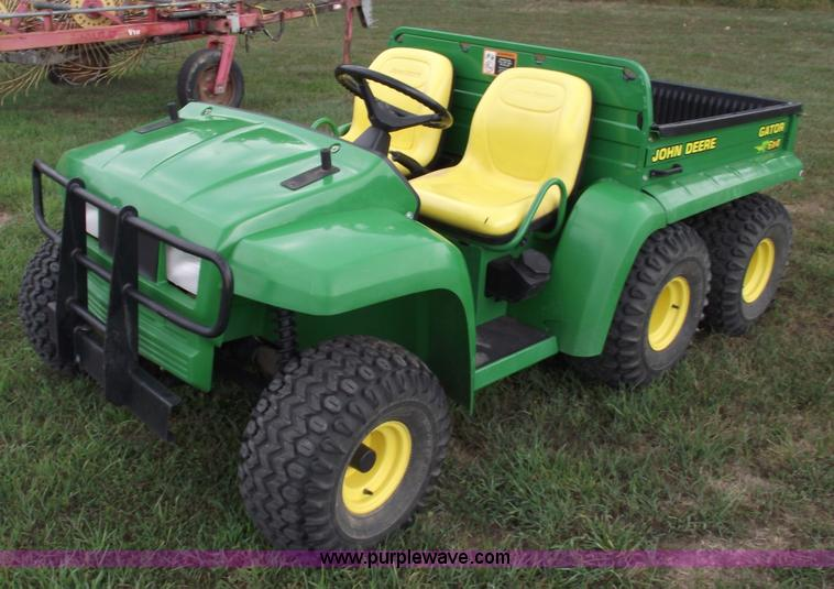 john deere gator 6x4 utility vehicle item a4112 sold. Black Bedroom Furniture Sets. Home Design Ideas
