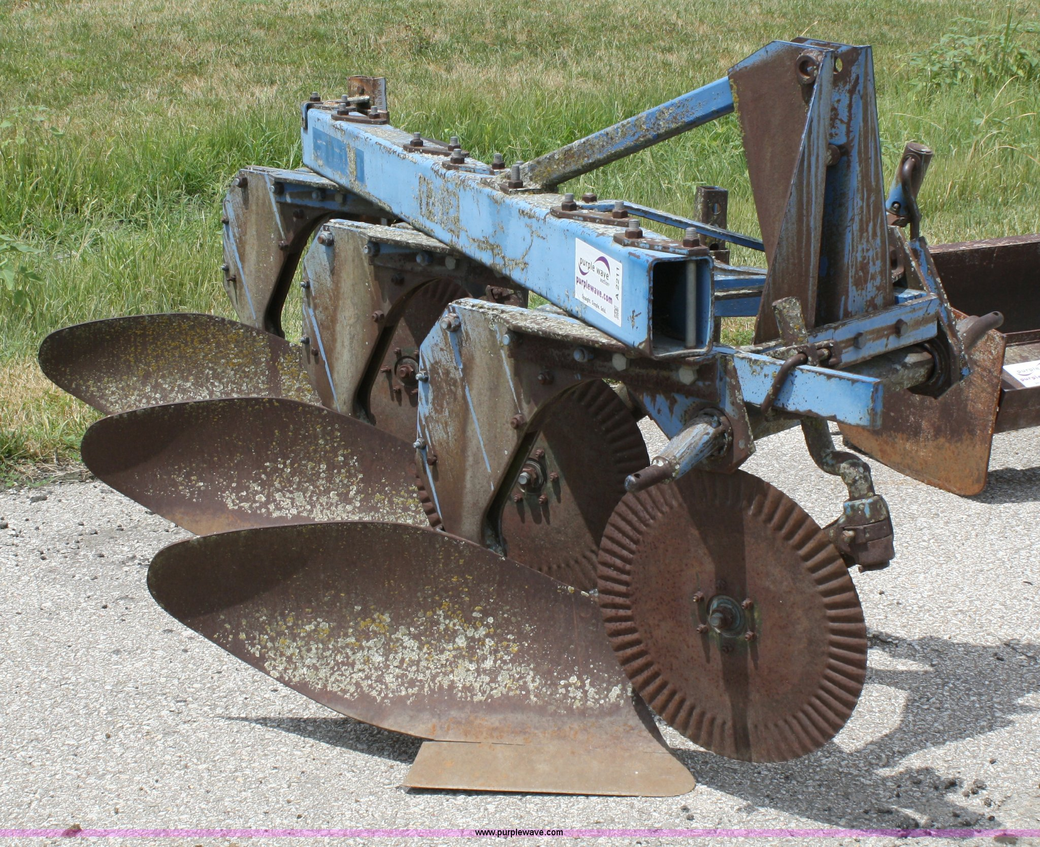 Three bottom plow