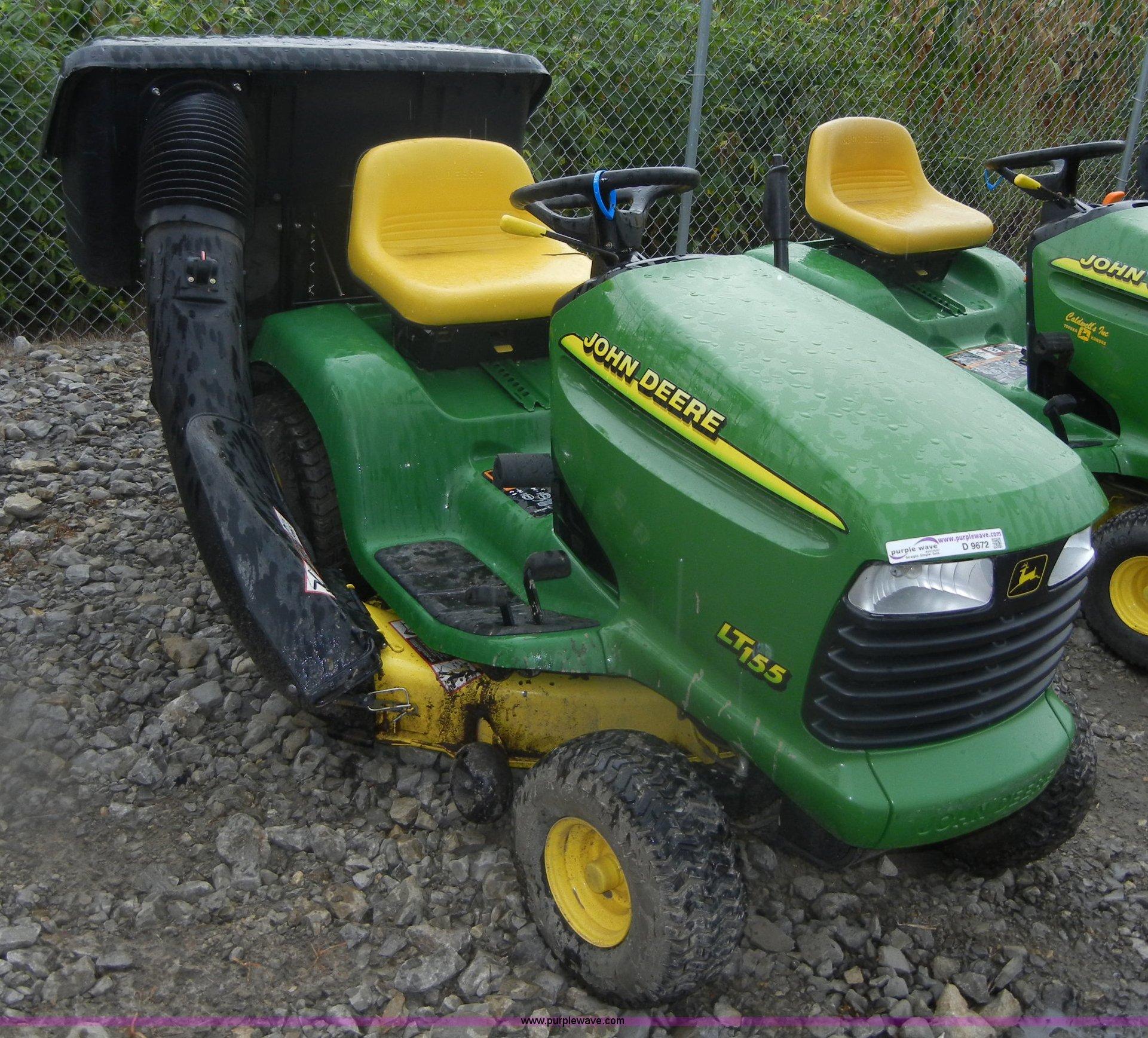 John Deere Lt155 Bagger Diagram : John deere lt lawn tractor with rear bagger item
